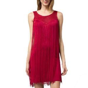 Esley Dresses & Skirts - Esley red fringe dress