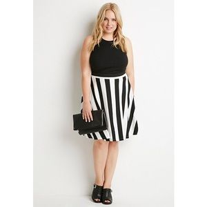 Forever 21 Dresses & Skirts - Black and cream skirt  NWT