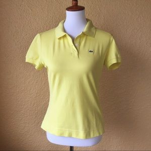 Lacoste Tops - Lacoste women's polo in yellow - EUC