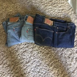 Levi's button fly shrink to fit