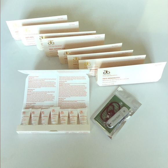 BUNDLE of 9 Arbonne RE9 Advanced Skincare Samples NWT