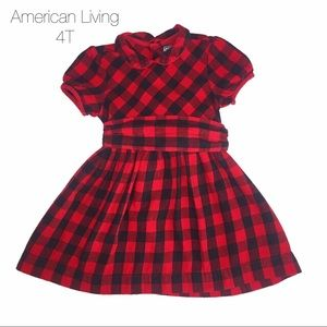 American Living Other - American Living Red Buffalo Print Plaid Dress 4T