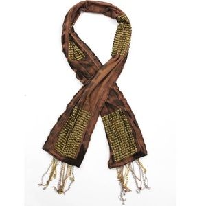 Tolani Accessories - Toani Scarf w/ Studs and Chains