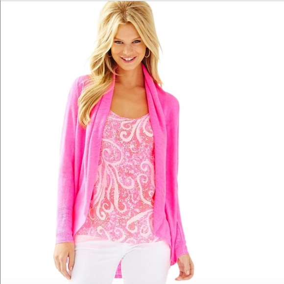 58105420d739c Lilly Pulitzer Tops - Lilly Pulitzer Holden Cardigan Kir Royal Pink S