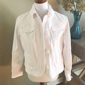 Coldwater Creek Jackets & Blazers - Coldwater Creek White Denim Jacket