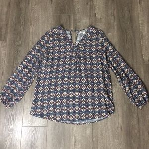 Pleione Tops - Pleione rayon Pattern Blouse size s