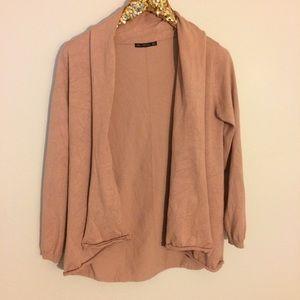 Zara knit dusty rose Open Cardigan L