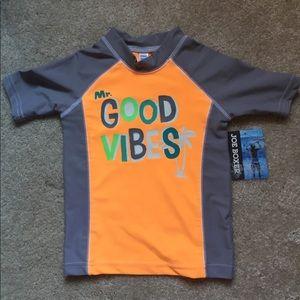 New with tag boys sun protection swim/beach shirt