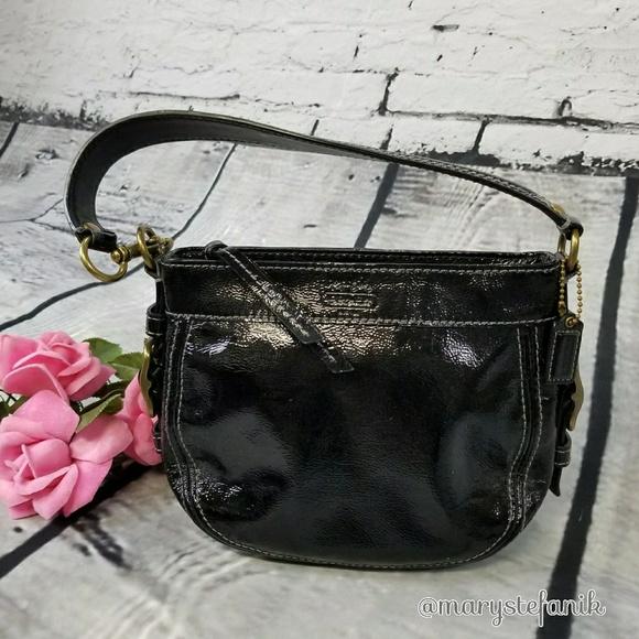 000ed7b79c04 Coach Handbags - Coach Zoe Mini Black Patent Leather Handbag Purse