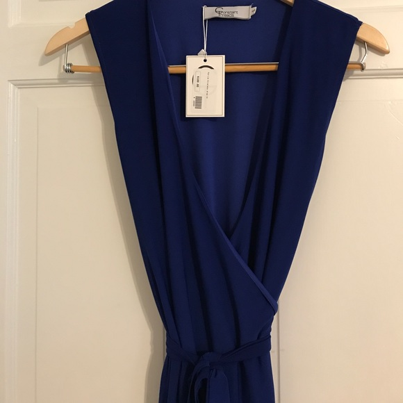 Constant Threads - Midnight blue sleeveless, floor length ...