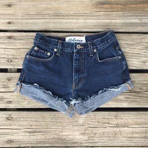 Vintage Pants - Vintage Denim Cut Off Jean Shorts