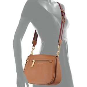 NWT Marc Jacobs Gotham Leather Tan Saddle Bag
