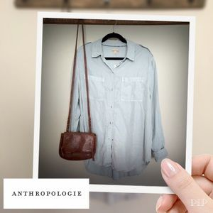  Anthropologie Holding Horses Chambray Top Med