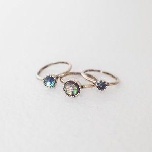 Urban Outfitters Jewelry - Urban Outfitters Moonstone Ring Set
