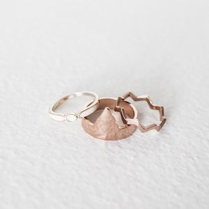 Urban Outfitters Jewelry - Urban Outfitters Geometric Midi Ring Set