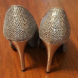 Lulu Townsend Shoes - Worn once! Lulu Townsend silver platform heels