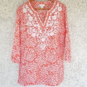Charter Club Other - Charter Club floral embroidered tunic