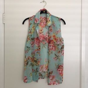 Floral Button Chiffon Top *NEW*