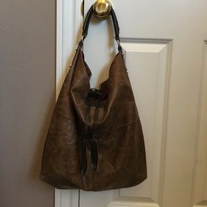Tano New York Handbags - Tano New York brown leather hobo bag