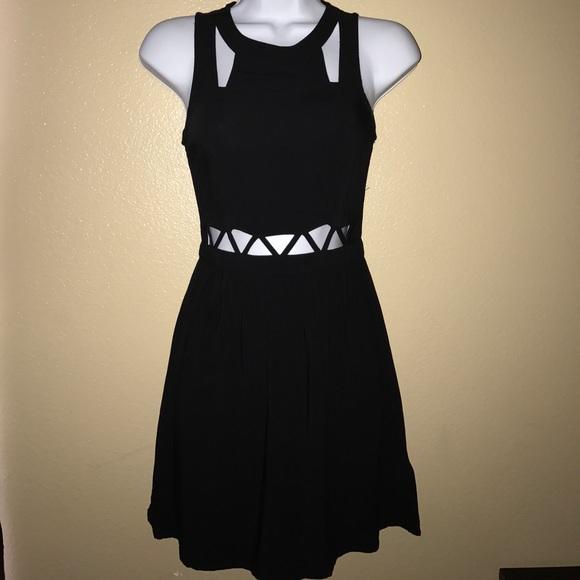 H M Dresses   Skirts - Black Mini DIVIDED H M Cutout Dress dc432e6f5