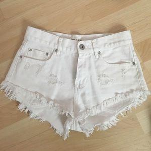 PacSun Pants - Pacsun White Denim Shorts