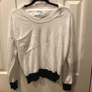 White and black ONE teaspoon sweater