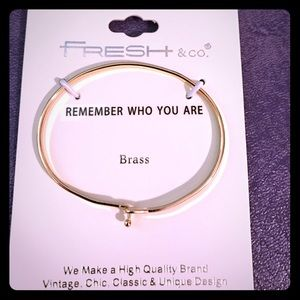 """Fresh & Co.  Jewelry - Fresh & Co. """"Remember Who You Are"""" bracelet"""