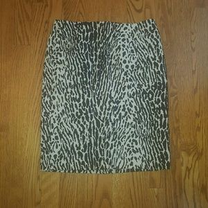 Talbots black and white pencil skirt size 2P