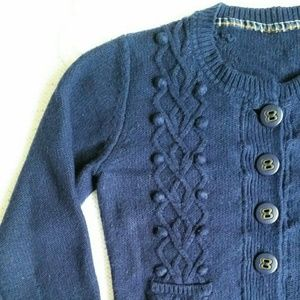 Pepe Jeans Sweaters - Pepe Jeans dark blue cropped cardigan