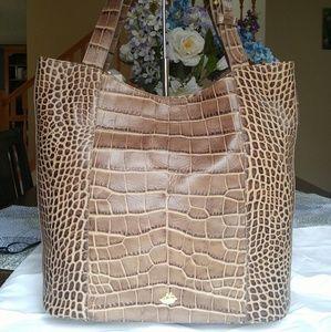 Brahmin Brayden Taupe Savannah Tote Bag