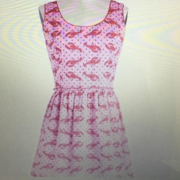 e7e185c4d Modcloth Dresses | Lobster Print Dress | Poshmark