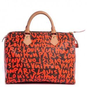 RARE💯 LOUIS VUITTON  Graffiti Speedy 30 Orange