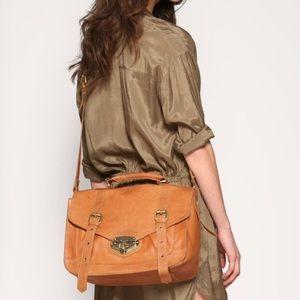 Asos leather messenger bag, color: blue.