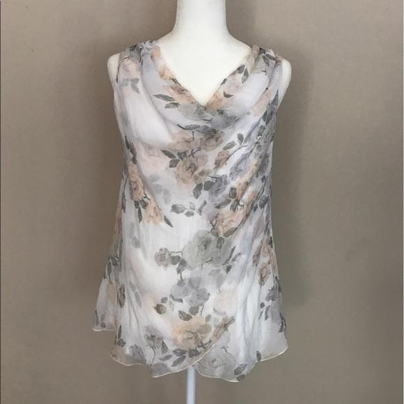 1de02aa292c35f SALE 🎉HP 8 11 🎉 GIUSY Italy Silk Floral Top