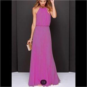 Dresses & Skirts - Lavender Floor-length Maxi Dress Size S
