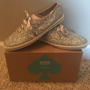 *NEW* Silver Glitter Kate Spade Keds