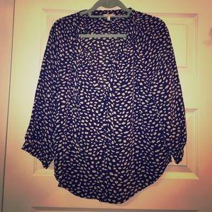 Joie cloud print V-neck blouse ☁️