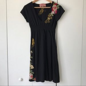 Johnny Was Dresses & Skirts - JWLA by Johnny Was Embroidered Black Tunic Dress M