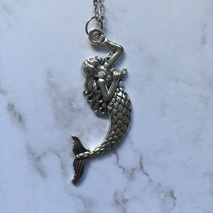 Jewelry - Long Silver Mermaid Pendant Necklace