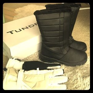 Tundra Shoes - Black waterproof snow boots