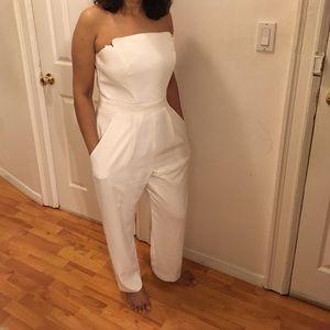 Jill Stuart Pants - NEW White strapless Jill Stuart Jumpsuit