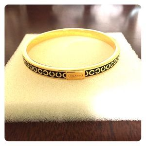 Coach gold and black bracelet