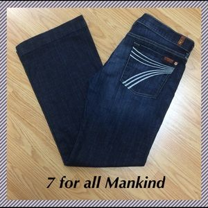 """7 For All Mankind Denim - 7 for all Mankind Dojo flares - size 32 x 30.5"""""""