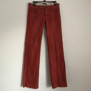 Prana Pants - prAna Corduroy Brick Color Pants Size 6