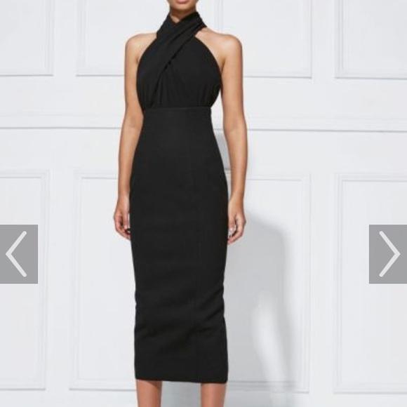 Misha Collection Dresses | 70 Off Black Halter Dress | Poshmark
