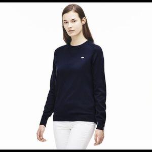 Lacoste Tops - Women's Lacoste black cotton long sleeve Tshirt