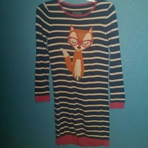 Joules Other - Joules knitwear fox dress sequined glasses striped