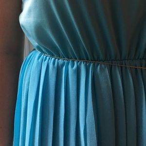 Dresses & Skirts - Turquoise Pleated Maxi