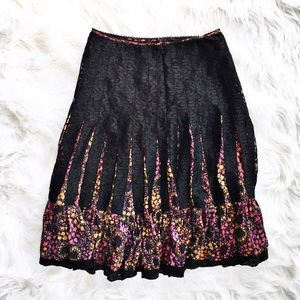 Free People Dresses & Skirts - Free People silk floral and lace boho midi skirt