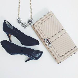 Adrienne Vittadini Shoes - NEW Black Leather Heels Pumps